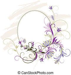 Dekordní rám s květinovou ozdobou