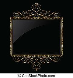 Dekordní zlato a černý rám