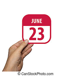 den, léto, jednoduchý, grafické pozadí., pavučina, dát, ikona, management., 23rd., datovat, rukopis, rok, design., čas, domnívat se, měsíc, červen, ikona, kalendář, 23, planning., pojem, neposkvrněný