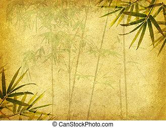 Design čínské bambusové stromy s ručně dělané papírky