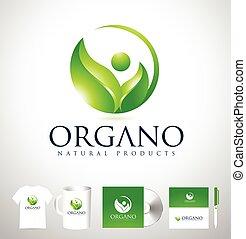 design, list, organický, emblém