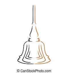 design, rukopis, buddha, kreslení, pralátka