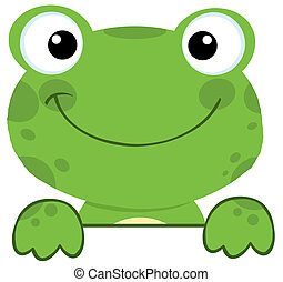 deska, firma, nad, žába, usmívaní