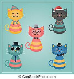 devítiocasá kočka, bederní sukně, zima, ilustrace