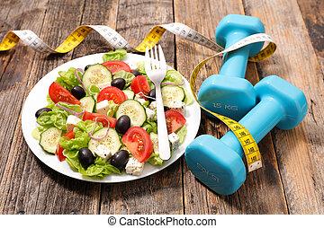 Dietní jídlo, čerstvý salát