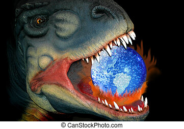 dinosaurus, nelokální nářez, zvyk