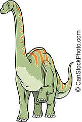 dinosaurus, vektor, ilustrace