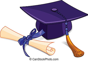 diplom, čapka, promoce