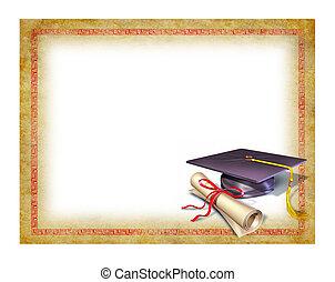 diplom, promoce, čistý