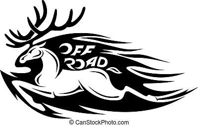 divoký, jelen