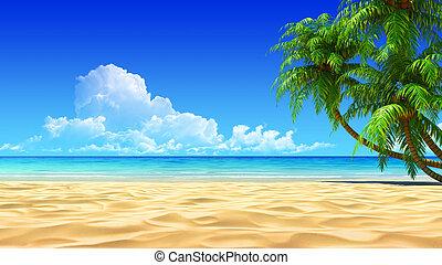 Dlaně na prázdné pláži
