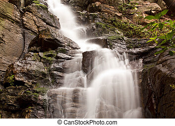dlouho, silný, vodopád, malý, řeka krajinomalba, odhalení