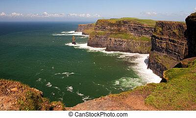 dobýt, skalní stěna, moher, irsko