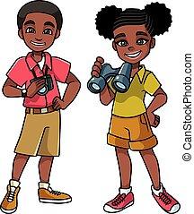 Dobrodružské děti jsou černé