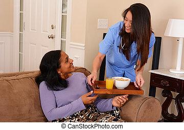 domů, zdravotní stav péče