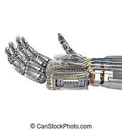 domnělý, cíl, robot, sevření dílo