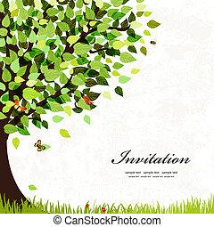 dopisnice, strom, design