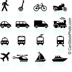 doprava, základy, design, ikona