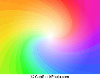 duha, abstraktní, barvitý, background charakter