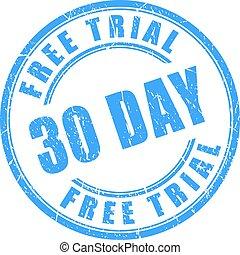 dupnutí, 30, den, svobodný, pokus, kolem