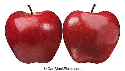 Dvě simetrické jablko