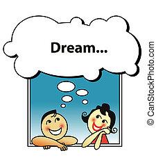dvojice, snít