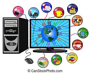 e- obchod, grafické pozadí