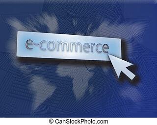 e- obchod, knoflík