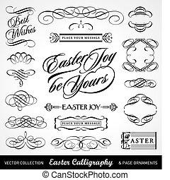 Easter calligrapy set (vektor)