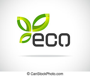 eco, emblém, list