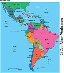 editable, latinský, země, jména, amerika