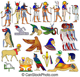 egypt, rozmanitý, starobylý, úloha
