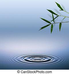 ekologický, abstraktní, grafické pozadí, bamboo.