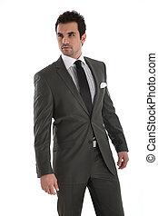 Elegantní fešák v obleku