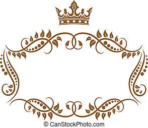 Elegantní královská čára s korunou