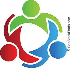 emblém, 3, design, povolání udělat společníkem