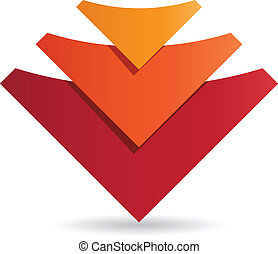 emblém, design, korporační, šablona