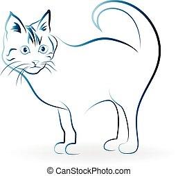 emblém, kočka, ikona