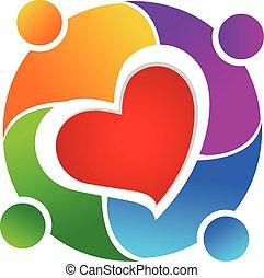 emblém, kolektivní práce, láska