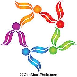 emblém, kolektivní práce, národ, barvitý