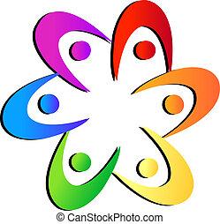 emblém, květ, forma, mužstvo