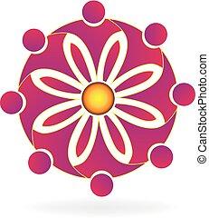 emblém, květ, kolektivní práce