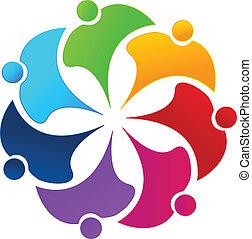 emblém, květ, kolektivní práce, národ, duha