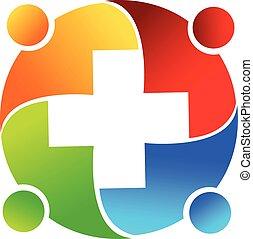 emblém, lékařský, kolektivní práce, národ
