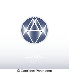 emblém, lehký, vkusný, grafické pozadí.
