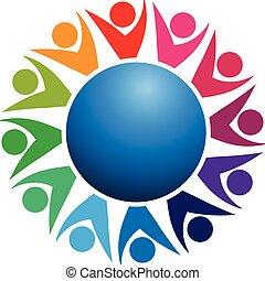 emblém, společnost, kolektivní práce, business národ
