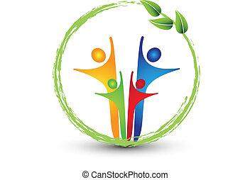 emblém, systém, rodina, ekologie