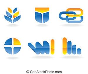 emblém, vektor, základy
