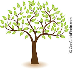 emblém, znak, vektor, strom