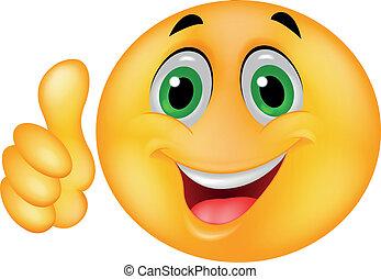 emoticon, šťastný, smiley postavit se obličejem k